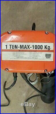 CM Lodestar Electric Chain Hoist Model L 1 Ton 16FPM 1HP 240/480V 3 PH USED