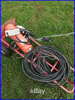 CM Lodestar H-2 3 Phase Electric 1 Ton Chain Hoist With Pendant