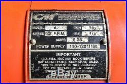 CM Lodestar Model A 1/8Ton Electric Chain Hoist Lift 32FPM 110-120/1/60