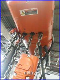 CM Lodestar Model E 1/2 Ton 1000LB Electric Chain Hoist