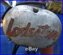 CM Lodestar Model E 1/2 Ton 1000LB Electric Chain Hoist 15' Lift 3PH 220/440