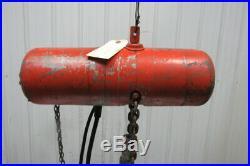 CM Lodestar Model F 1/2 Ton Electric Chain Hoist 10' Lift 16FPM 208/230-460v 3PH
