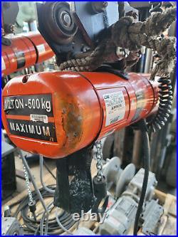CM Lodestar Model F 1/2 Ton Electric Chain Hoist 110V