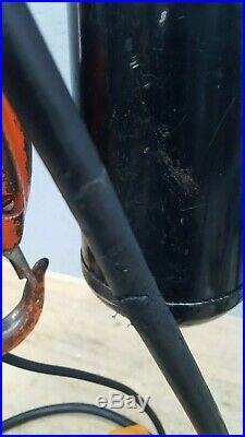 CM Lodestar Model H 1 Ton Electric Chain Hoist 10' Lift 8FPM 120 Volt 1PH 1/2HP