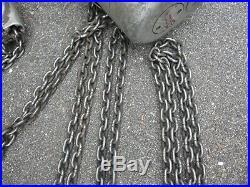 CM Lodestar Model H 1 ton electric chain hoist 10' lift 5 pendant 3Phase 220 440