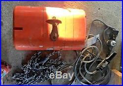 CM Lodestar Model L 1 Ton 1Hp Electric Chain Hoist