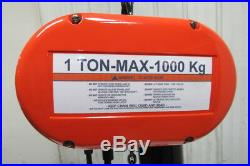 CM Lodestar Model L 1 Ton 1Hp Electric Chain Hoist 230/460V 3Ph 20' Lift 16FPM