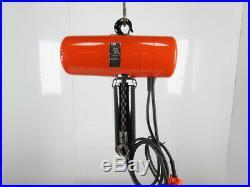 CM Lodestar Model L 1 Ton 2000LB Electric Chain Hoist 15' Lift 16FPM Tested