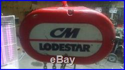 CM Lodestar Model L 1-Ton Electric Chain Hoist 10' Lift 110V with CBTP Trolley