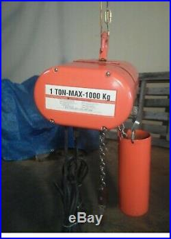 CM Lodestar Model L 1 Ton Electric Chain Hoist 120 VOLTS