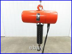CM Lodestar Model L, 1 Ton Electric Chain Hoist 20' Lift 16 FPM 208-230/460 3Ph