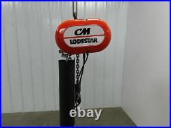 CM Lodestar Model L Electric Chain Hoist 20' Travel 15' Pendant 16 FPM 3PH