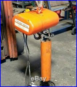 CM Lodestar Model L1 Electric Chain Hoist 1 Ton 240/480 Vac 16 Fpm 3 Phase