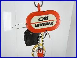 CM Lodestar Model R 2 Ton 4000LB Electric Chain Hoist 12'6 Lift 8FPM 3PH Tested