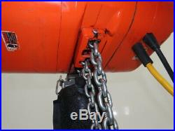CM Lodestar Model R 2 Ton 4000lb Electric Chain Hoist 19' Lift 8FPM 460V 3PH