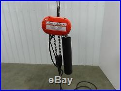 CM Lodestar Model R 2 Ton Electric Chain Hoist 15' Travel 120 V 1PH Load Tested