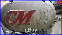 CM Lodestar Model R 2 Ton Electric Chain Hoist 8fpm 1hp 220-240/440-480v 3ph