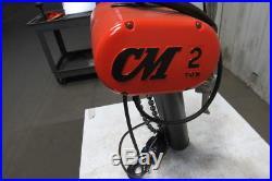 CM Lodestar RR 2 Ton 2Hp Electric Chain Hoist 208-230/460V 3Ph 20' Lift 16FPM