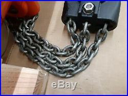 CM Lodestar RT 3 Ton Electric Chain Hoist 10ft 5.5FPM 1HP 120V Single Phase