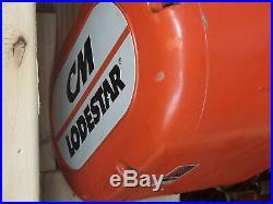 CM Lodestar Rr 2 Ton Electric Chain Hoist 460v 16/5 Fpm 2hp Cm633 Trolley