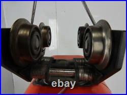 CM Model L 1 Ton Electric Chain Hoist 14'4 Lift 16FPM 3Ph WithPush Trolley