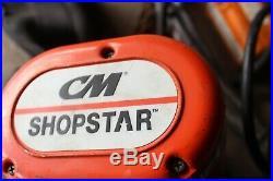 CM SHOPSTAR 600lb ELECTRIC VOLT CHAIN HOIST