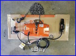 CM Valustar Electric Chain Hoist 1/2 TON 15 FT Lift New Model WF