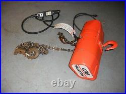 CM Valustar Electric Chain Hoist 1/2 TON Lift Model WF 115/1/60 500kg