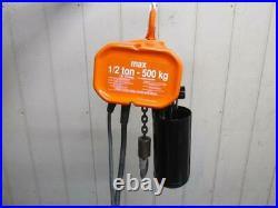 CM Valustar Model WF Electric Chain Hoist 1/2 Ton 1000 Lbs 1 PH 115v 10' Lift