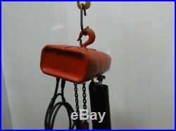 CM Valustar Model WR 2 Ton 4000LB Electric Chain Hoist 115V 1Ph 15' Lift 8FPM