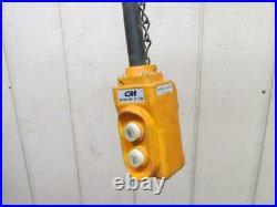 CM Valustar WL Electric Chain Hoist 1 Ton 2000 Lbs 1 PH 115v 10' Ft. Lift