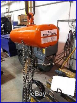 CM electric chain hoist. 3154 Model F 230/460 V 1/2Ton 16 FPM 20' lift