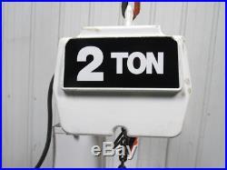 COFFING 4024 3 2 TON Electric Chain Hoist 12' Lift 24FPM 208-230/460V