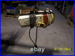 COFFING MODEL 4409 1 TON ELECTRIC CHAIN HOIST, 3 PHASE, 460V 60Hz, USED