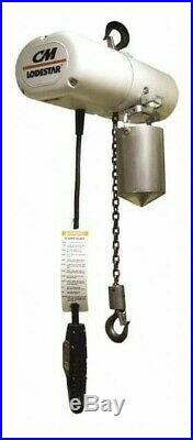 Cm Lodestar 1 Ton Electric Chain Hoist, Clean Room/Food Grade Stainless Steel