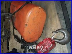 Cm Lodestar 2 Ton 4000lb Electric Chain Hoist 3Ph 15' Lift