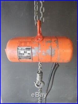Cm Lodestar Model B 1/4 Ton 500lb Electric Chain Hoist 10' Lift 16 FPM 115V 1Ph