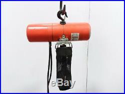 Cm Lodestar Model F 1/2 Ton 1000lb Electric Chain Hoist 3Ph 22' Lift 16 FPM
