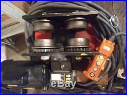 Cm Lodestar Model h 1 Ton Electric Chain Hoist 1Ph 120v 635 motorized Trolley