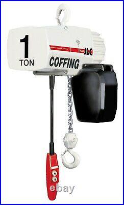 Cmco Coffing Jlc Electric Chain Hoist 1 Ton, 15' Lift, 1ph