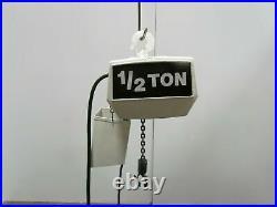Coffing 1/2 Ton 1000lb Electric Chain Hoist 20'Lift 16fpm 3ph