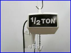 Coffing 1/2 Ton 1000lb Electric Chain Hoist 8' Lift 16fpm