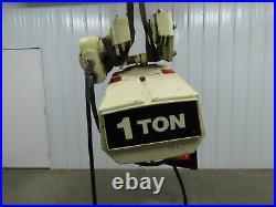Coffing 1 Ton 2000Lb Electric Chain Hoist 3Ph 480V 10' Lift Travel Power Trolley