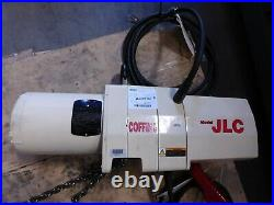 Coffing 1 Ton Electric Chain Hoist with Chain Container, 10' Lift, 115/230V REPAIR
