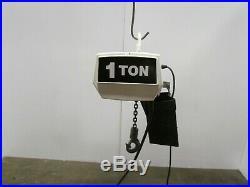 Coffing 1Ton 2000lb Electric Chain Hoist 15' Lift 115v 1 PH