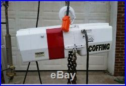 Coffing 2 Ton Electric Chain Hoist 460 Volts