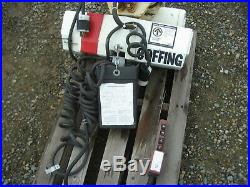 Coffing 2 Ton Electric Chain Hoist with Powered Trolley 230 / 460 Volts 3 phase