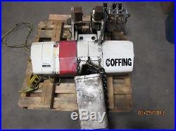 Coffing 4 Ton EC. 8008-3 Electric Chain Hoist 10 foot lift 220V-3PH