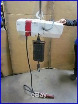 Coffing Ec-2016-1 1 T Ton 2000lbs Electric Chain Hoist 120v 1ph 119 Drop