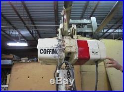 Coffing Ec. 4016.3 2 T Ton 4000lbs. 2 Speed Electric Chain Hoist 460v 235 Drop